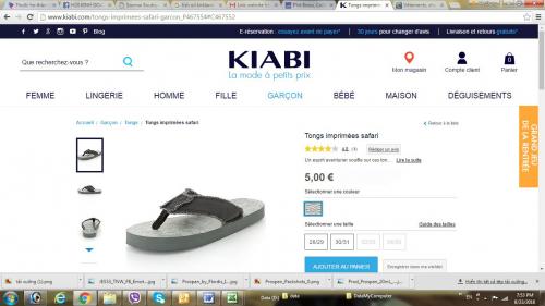 Dép cho bé trai Safari (hiệu Kiabi - Pháp)