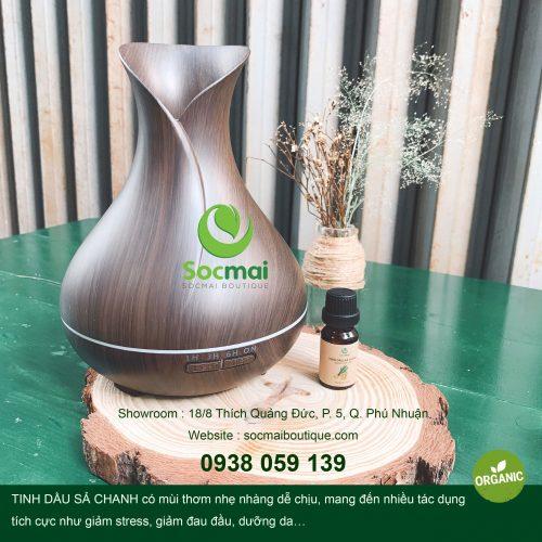 MÁY KHUẾCH TÁN TINH DẦU AROMA 550 ml (hàng chuẩn) - Tặng kèm TINH DẦU SẢ CHANH