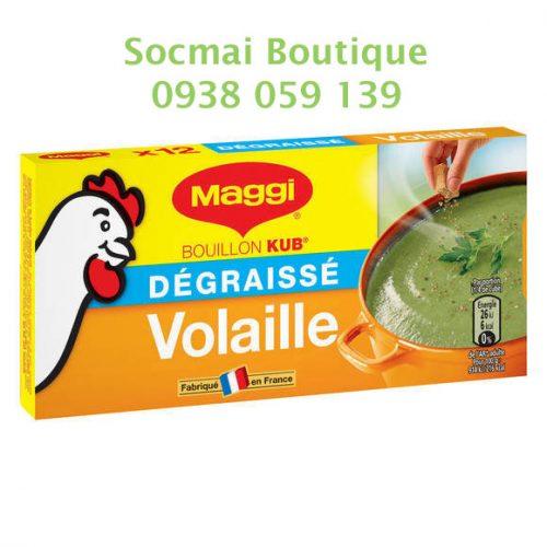 Hộp 12 viên gia vị Maggi, vị gà - Hàng mua trực tiếp tại Pháp