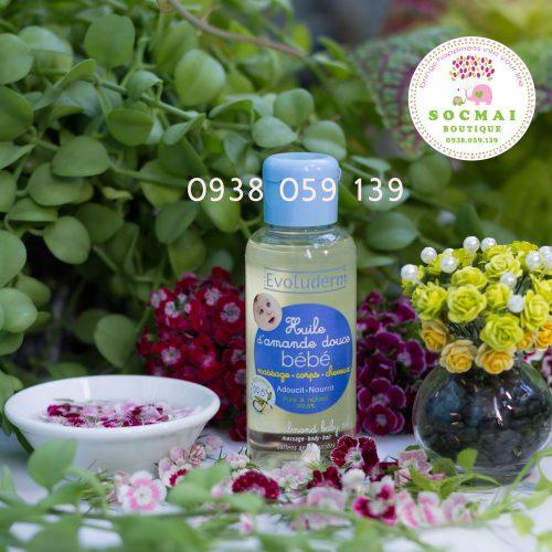 EVOLUDERM - Tinh dầu dưỡng da chiết xuất từ hạnh nhân dành cho em bé - Huile d'amande douce Bébé 100ml (Pháp)