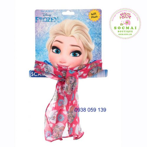 Khăn quàng cổ Frozen cho bé, mua tại Pháp, có bill
